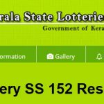 {SS-152 - Kerala Lottery Results} STHREE SAKTHI Lottery SS 152 Result