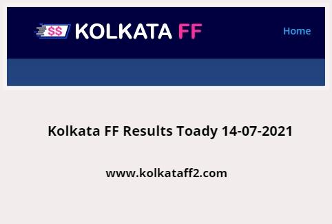 Kolkata FF Results Toady 14-07-2021