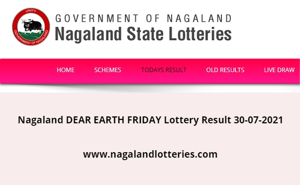 Live – Nagaland DEAR EARTH FRIDAY Lottery Result 30-07-2021 (www.nagalandlotteries.com)   Dear Day 4 PM Lottery Result Download